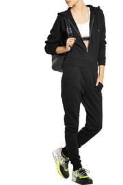 + Cara Delevingne hooded cotton French terry jumpsuit