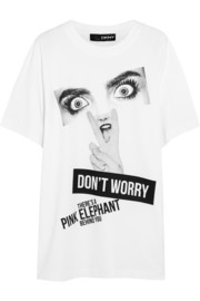 + Cara Delevingne printed cotton-jersey T-shirt
