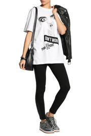 DKNY + Cara Delevingne printed cotton-jersey T-shirt