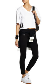 DKNY + Cara Delevingne cropped cotton-jersey T-shirt