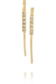 14-karat gold diamond earrings
