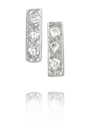 14-karat white gold diamond earrings