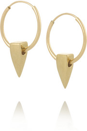 Wendy Nichol 14-karat gold hoop earrings