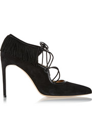 Melina fringed suede pumps