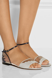 Bionda Castana Shirin leather and mesh sandals