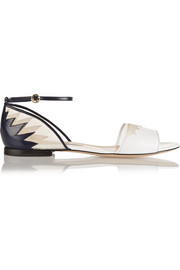 Shirin leather and mesh sandals