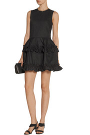 J Brand + Simone Rocha ruffled denim mini dress