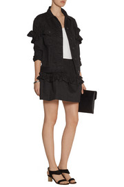 J Brand + Simone Rocha ruffled denim mini skirt