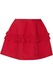 + Simone Rocha ruffled denim mini skirt