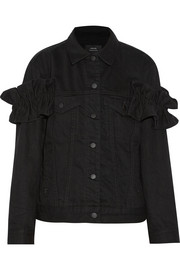 + Simone Rocha oversized ruffled denim jacket