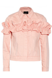 J Brand + Simone Rocha Campbell ruffled denim jacket