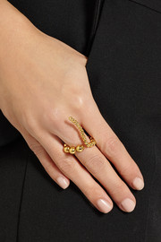 Paula Mendoza Adriane gold-plated ring