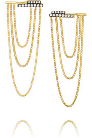 Jemma Wynne 18-karat gold diamond earrings