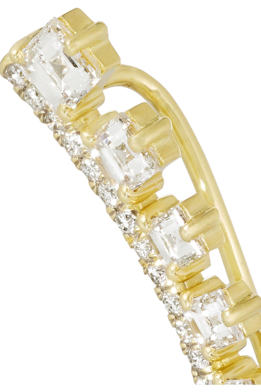 Jemma Wynne 18-karat gold diamond earring