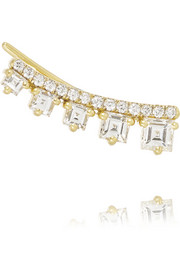 Jemma Wynne 18-karat gold diamond earring