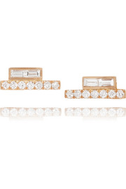 Jemma Wynne 18-karat rose gold diamond earrings