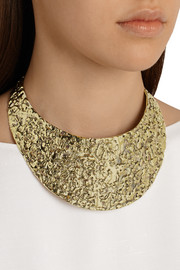 Melted gold-tone choker