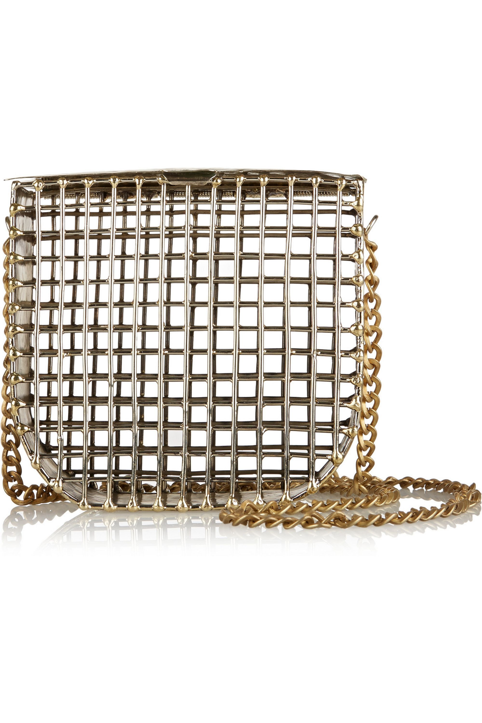 Anndra Neen Cage gold-tone shoulder bag