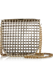 Cage gold-tone shoulder bag