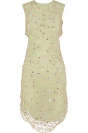 Giovanna embellished crocheted lace dress