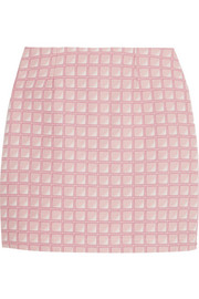 Alexander Lewis Morningside cotton-jacquard mini skirt