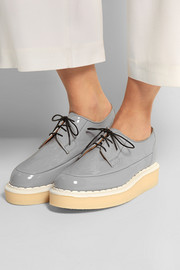 + George Cox patent-leather creepers