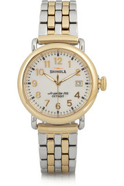 Runwell gold-plated and stainless steel watch