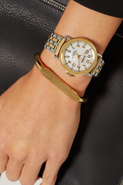 Shinola Runwell gold-plated and stainless steel watch