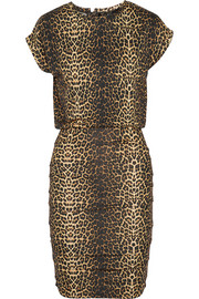 Maje Katanga leopard-print stretch-jersey mini dress