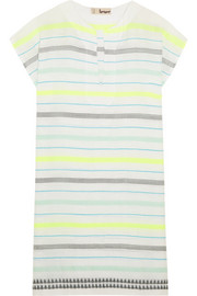 Lelaga striped cotton-blend gauze tunic