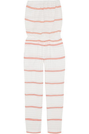 Abara striped cotton-blend gauze jumpsuit