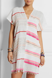LemLem Amash striped cotton-blend gauze tunic