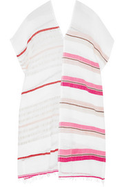 Amash striped cotton-blend gauze tunic