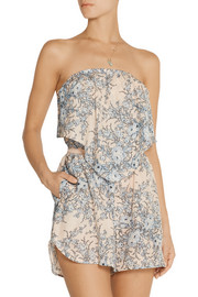 Zimmermann Essence printed cotton and silk-blend playsuit