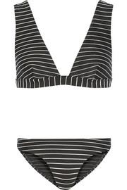 Trinity Wide Plunge striped bikini