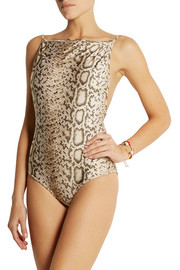 Zimmermann Essence reversible printed swimsuit