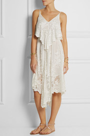 Zimmermann Essence embroidered silk-gauze dress