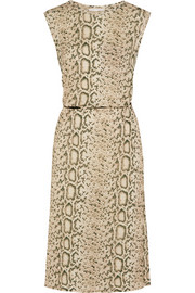 Zimmermann Essence snake-print jersey dress