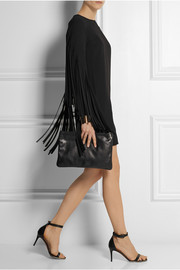 DKNY Fringed crepe mini dress