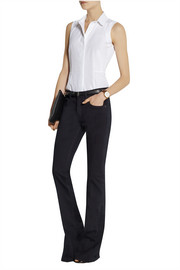 Victoria Beckham Denim Sleeveless cotton-poplin shirt
