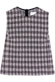Checked bouclé top