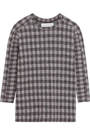 Checked bouclé sweatshirt