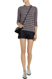 Victoria Beckham Denim Checked bouclé sweatshirt