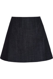 Victoria Beckham Denim A-line denim mini skirt