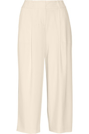DKNY Cropped crepe wide-leg pants