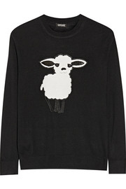 Lunar New Year terry-appliquéd knitted sweater