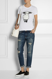 DKNY Lunar New Year sheep appliquéd cotton-jersey T-shirt