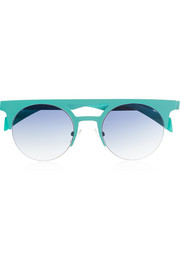 + Italia Independent round-frame metal sunglasses