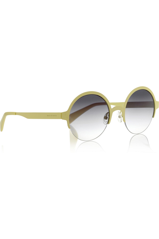 Italia Independent + Italia Independent round-frame metal sunglasses