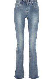 The Bodycon Flare mid-rise jeans